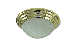 "12"" TWIST-ON CEILING FIXTURE - POLISHED BRASS"