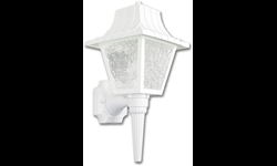 "8"" POLY COACH LIGHT FIXTURE - WHITE"