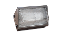 100W HPS SMALL WALL PACK WITH GLASS DIFFUSER - BRONZE