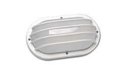 13W PL OUTDOOR OVAL WALL FLUORESCENT FIXTURE - WHITE