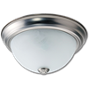 "11"" CEILING FIXTURE SATIN NICKEL WITH ALABASTER GLASS"