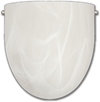 "8"" WALL SCONCE SATIN NICKEL WITH ALABASTER GLASS"