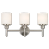 3 LIGHT VANITY FIXTURE - SATIN NICKEL WITH FROSTED GLASS