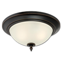 "13"" FROSTED GLASS CEILING FIXTURE - AMBER BRONZE"