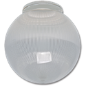 "6"" CLEAR RIBBED ACRYLIC GLOBE 3-1/4"" FITTER"