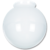 "6"" WHITE GLASS GLOBE 3-1/4"" FITTER - 4/PK"