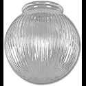 "6"" CLEAR PRISMATIC GLOBE 3-1/4"" FITTER - 4/PK"