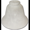 REPLACEMENT GLASS 163185 LIGHT FIXTURE - ALABASTER - 4PK