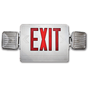 EXIT SIGN WITH EMERGENCY LIGHT - COMBO