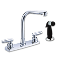 WHITEFALLS TWO HANDLE HI-RISE KITCHEN FAUCET WITH SPRAY - CHROME