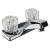 WHITEFALLS ACRYLIC TWO HANDLE LAVATORY FAUCET WITH POP-UP - CHROME