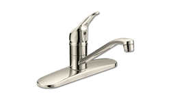 WHITEFALLS SINGLE HANDLE KITCHEN FAUCET WITHOUT SPRAY - BRUSHED NICKEL