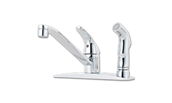 PFISTER SINGLE LEVER KITCHEN FAUCET WITH SPRAY ON DECK - CHROME