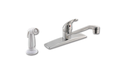 PFISTER SINGLE LEVER KITCHEN FAUCET STAINLESS STEEL WITH SPRAY - STAINLESS STEEL