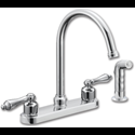 WHITEFALLS TWO HANDLE KITCHEN FAUCET - DECORATIVE - WITH SPRAY - CHROME