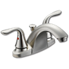 WHITEFALLS TWO HANDLE LAVATORY FAUCET - BUTTON INDICATORS - WITH POP-UP - BRUSHED NICKEL