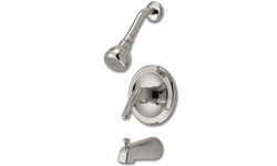 WHITEFALLS TUB/SHOWER FAUCET WITH PRESSURE BALANCE VALVE - BRUSHED NICKEL