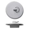 "FIT-ALL WHITE RUBBER LAVATORY STOPPER - 1"" TO 1-3/8"""