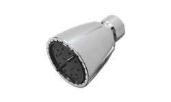 DELUXE PVC SHOWER HEAD 2.5 GPM @ 80 PSI- METAL BALLJOINT - CHROME