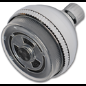 3-WAY PULSATING MASSAGE SHOWER HEAD - METAL BALL JOINT