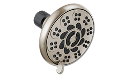 MASSAGE SHOWER HEAD 5-SPRAY SETTINGS 1.75 GPM - BRUSHED NICKEL