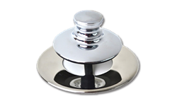WATCO UNIVERSAL NUFIT PUSH PULL TUB STOPPER WITH NO GRID - CHROME