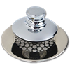 WATCO UNIVERSAL NUFIT PUSH PULL TUB STOPPER WITH STRAINER GRID - CHROME