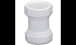 "1-1/2"" PVC DOUBLE SLIP EXTENSION COUPLING WITH 1-1/2"" X 1-1/4"" REDUCING WASHER & 1-1/2"" WASHER"