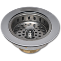 SINK STRAINER ASSEMBLY - CHROME PLATED BRASS & BRASS THREAD