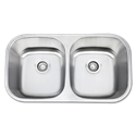 "32""X18"" X 9"" UNDERMOUNT DOUBLE BOWL STAINLESS STEEL SINK - 18GA."