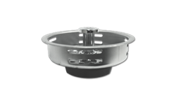 STAINLESS STEEL BASKET STRAINER WITH RUBBER STOPPER