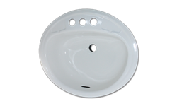 "16"" X 19"" OVAL LAVATORY SINK PORCELAIN ON STEEL - WHITE"