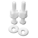 TOILET SEAT BOLTS - PAIR