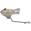 CLEAR TOILET TANK FLAPPER WITH STAINLESS STEEL BEADED CHAIN