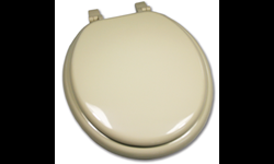 BONE ROUND WOOD TOILET SEAT