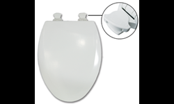 BEMIS EZ CLEAN ELONGATED TOILET SEAT - 1500EC/585EC