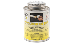 YELLOW MEDIUM CPVC CEMENT - 1/2 PINT