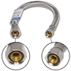 "3/8"" COMP X 1/2"" FIP X 20"" STAINLESS STEEL FAUCET SUPPLY LINE"