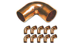 "1/2"" ID WROT 90° COPPER STREET ELBOW - 5/PK"