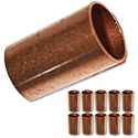 "3/4"" ID WROT COPPER SLIP COUPLING - 10/PK"