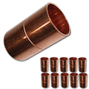 "3/4"" ID WROT COPPER SLIP COUPLING WITH STOP - 10/PK"