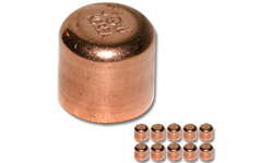 "3/4"" ID WROT COPPER CAP - 10/PK"