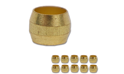 "1/4"" BRASS COMPRESSION SLEEVE - 10/PK"