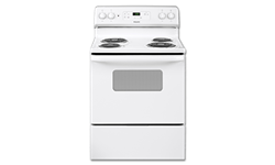 "HOTPOINT® 30"" ELECTRIC RANGE WITH OVEN WINDOW - WHITE"