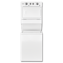 "WHIRLPOOL® 27"" STACK ELECTRIC WASHER & DRYER - WHITE"