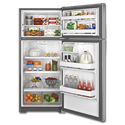 GE® ENERGY STAR 16.6 CU FT TOP-FREEZER REFRIGERATOR - STAINLESS STEEL