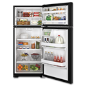 GE® ENERGY STAR 16.6 CU FT TOP-FREEZER REFRIGERATOR - BLACK