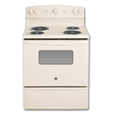 "GE® 30"" ELECTRIC RANGE - BISQUE"