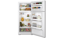 GE® ENERGY STAR® 16.6 CU FT REFRIGERATOR - WHITE