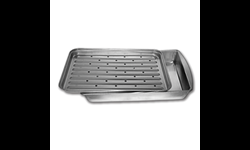 METAL BROILER PAN WITH RACK